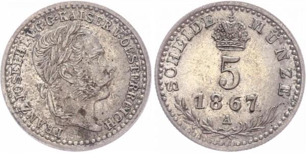 Österreich 5 Kreuzer 1867 A Franz Josef