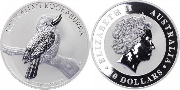 Australien 10 Dollars 2010 - Kookaburra - Lunar Serie