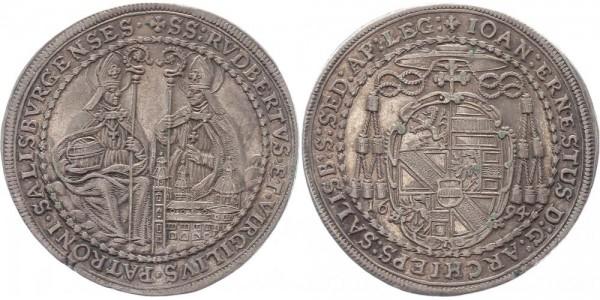 Salzburg 1/2 Taler 1694 - Johann Ernst von Thun und Hohenstein