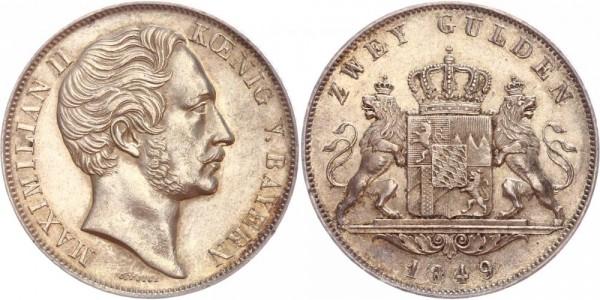 Bayern 1 Doppelgulden 1849 D Maximilian II. 1848 - 1856