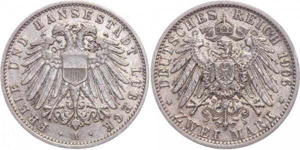 Lübeck 2 Mark 1906 - Freie Hansestadt