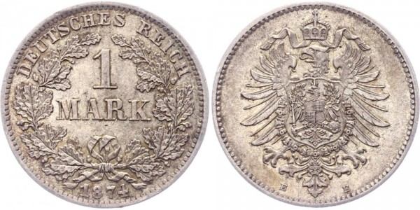 Kaiserreich 1 Mark 1874 E -