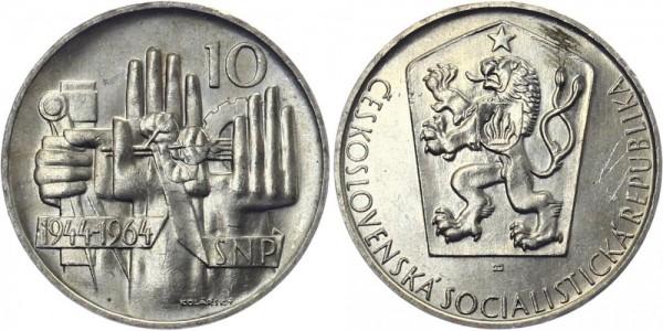 CSSR 10 Kč 1964 - 20 J. Slovakischer Aufstand