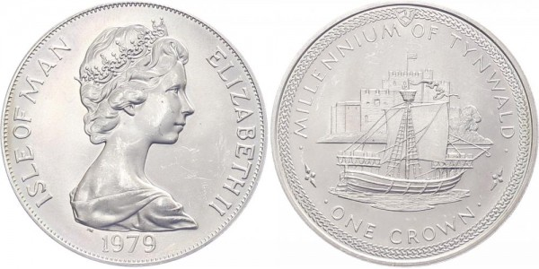 Isle of Men 1 Crown 1979 - Millenium von Tynwald