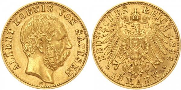 Sachsen 10 Mark 1896 Albert