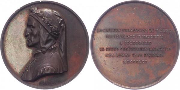 Italien Medaille 1865 Dante Alighieri Personenmedaille