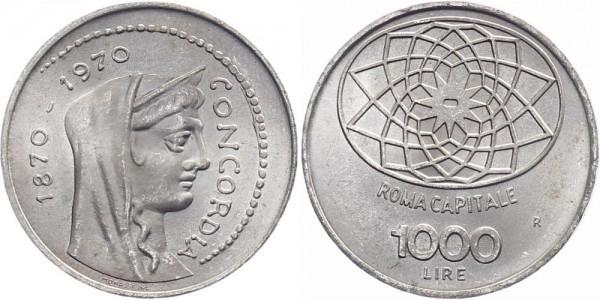 Italien 1000 Lire 1970 - 100 Jahre Rom als Hauptstadt