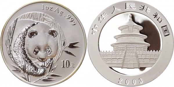 China 10 Yuan 2003 - Panda