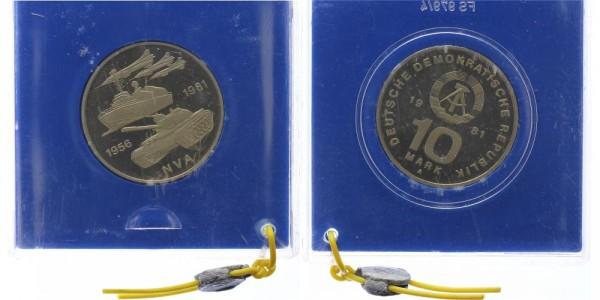 DDR 10 Mark 1981 - 25 Jahre Volksarmee, NVA
