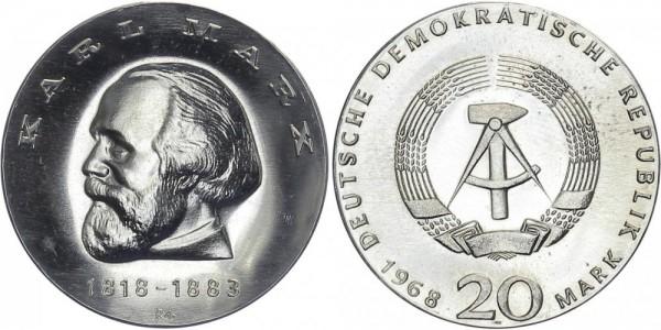DDR 20 Mark 1968 A 150 Geburtstag Karl Marx