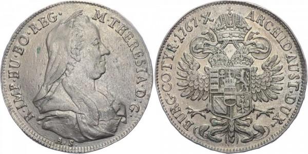 RDR, Habsburg 1/2 Taler 1767 AS (Hall) Maria Theresia 1740-1780