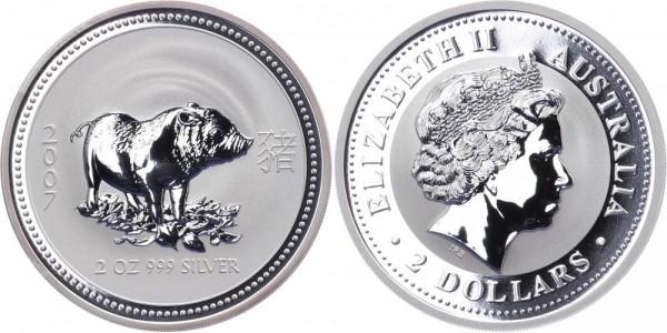 Australien 2 Dollars 2007 - Jahr des Schweins - Lunar Serie