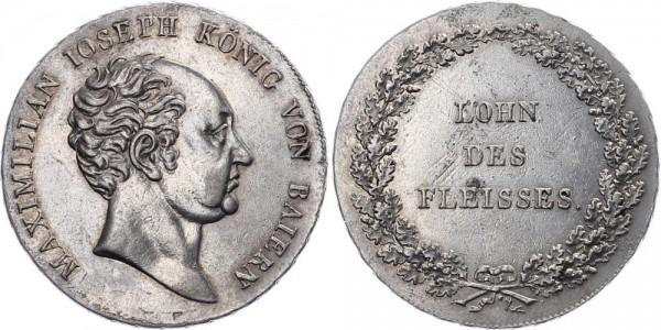 Bayern 1/2 Schulpreistaler o.J. (geprägt bis 1837) - Maximilian Joseph