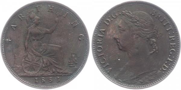 Großbritannien Farthing 1883 - Victoria