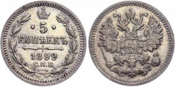 Russland 5 Kopeken 1897 - Nikolaus II. 1894-1917