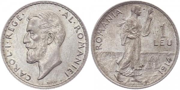 Rumänien 1 Leu 1914 - Carol I