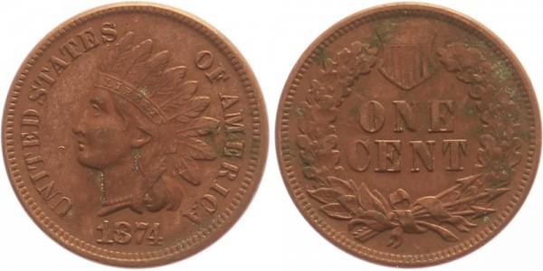 USA 1 Cent 1874 - Indianer