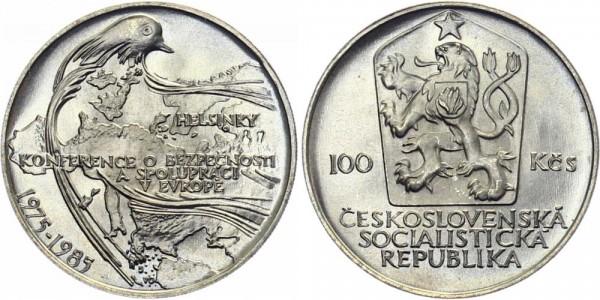 CSSR 100 Kč 1985 - Helsinki Konferenz - 10 Jahre