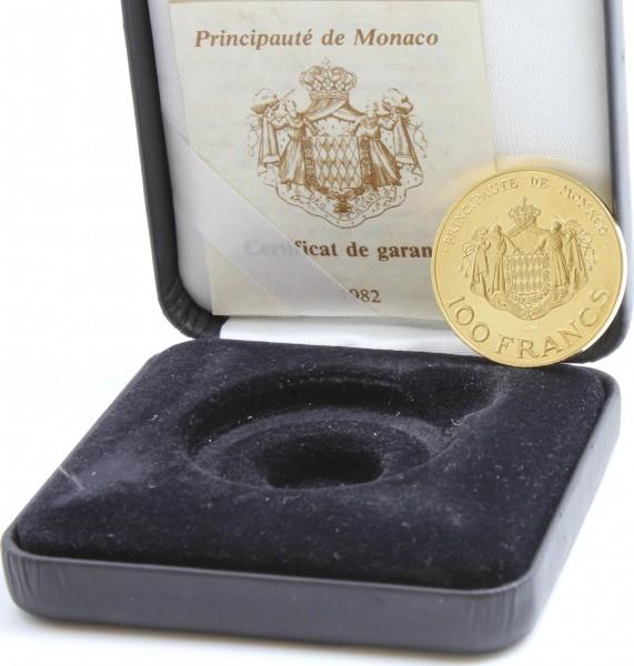 Monaco 100 Francs 1982 Fürst Rainier III / Kronprinz Albert