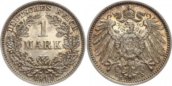Deutsches Reich 1 Mark 1911 E Großer Adler
