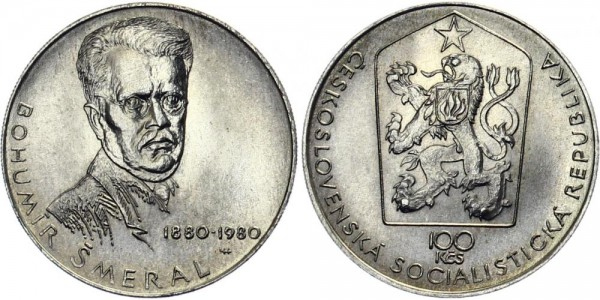 CSSR 100 Kč 1980 - Bohumil Smeral