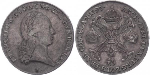 Habsburg Kronentaler 1797 B (Kremnitz) Franz II. 1792-1806