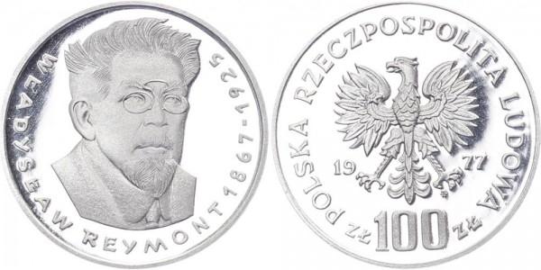 Polen 100 Zlotych 1977 - Wladslaw Reymont