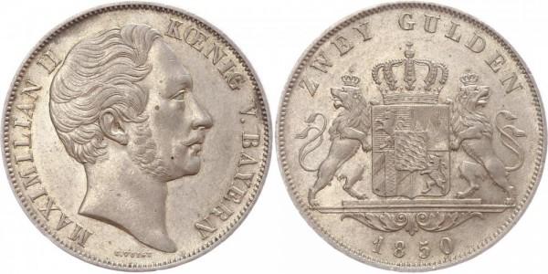 Bayern Doppelgulden 1850 - Maxmilian II.