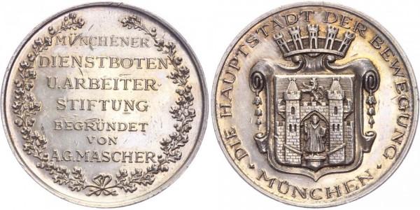 Deutschland/Bayern Medaille o.J. - München Dienstbotenmedaille, die Hauptstadt der Bewegung