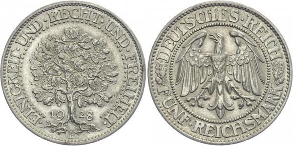 Weimarer Republik 5 Mark 1928 F Eichbaum