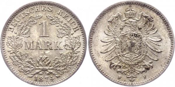 Kaiserreich 1 Mark 1874 F -