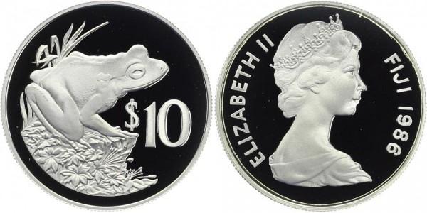 FIDSCHI 10 Dollar 1986 - Frosch