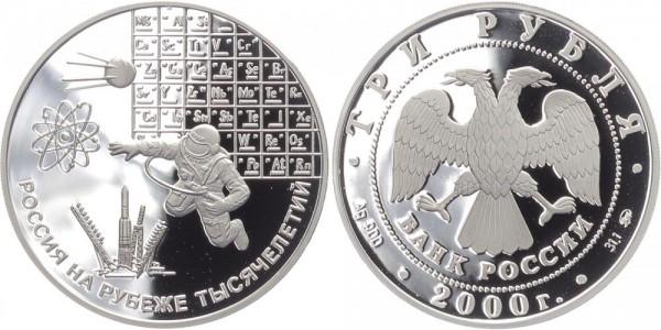 Russland 3 Rubel 2000 - Wissenschaft