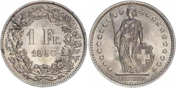 Schweiz 1 Franken 1956 B Kursmünze