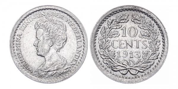 Niederlanden 10 cent 1913 - Kursmünze