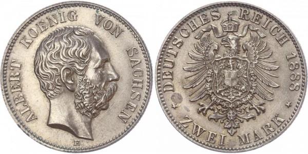 Sachsen 2 Mark 1888 E Albert