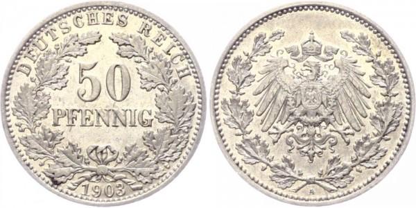 Kaiserreich 50 Pfennig 1903 A -