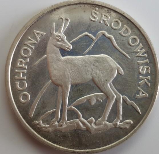 Polen 100 Zloty 1979 Serie Umweltschutz - Gämse PP offen