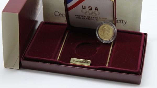 USA 5 Dollar 1988 Olympiade (Olympics, Liberty) PP OVP