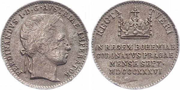 Österreich Jeton 1836 - Ferdinand I., Auf die Krönung Böhmen