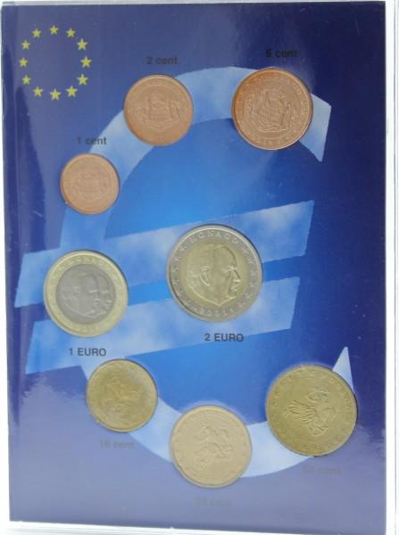 Monaco 3,88 Euro 2001 Münzenset 1 Cent - 2 Euro bankfrisch