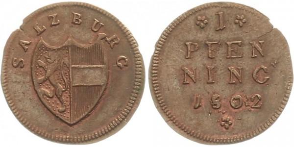 Salzburg 1 Pfennig 1802 - Kursmünze