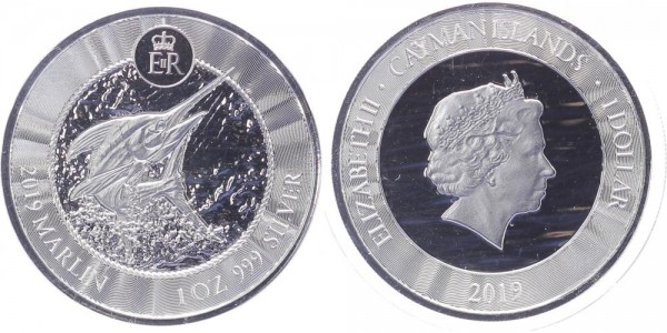Cayman Islands 1 Dollar 2019 - Marlin