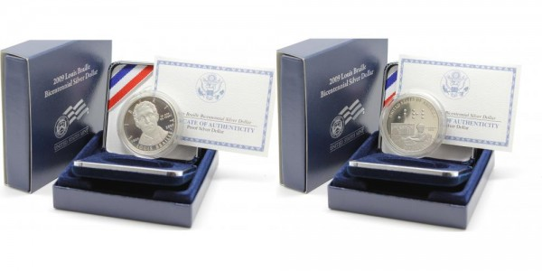 USA 1 Dollar 2009 P Louis Braille Bicentennial Silver Dollar PP
