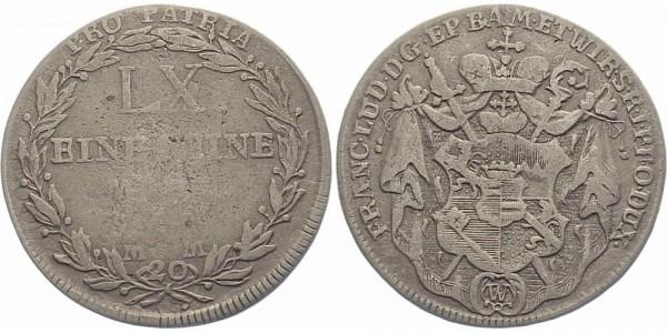 Würzburg 20 Kreuzer 1795 - Franz Ludwig von Erthal