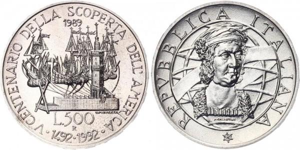 Italien 500 Lire 1989 - Kolumbus