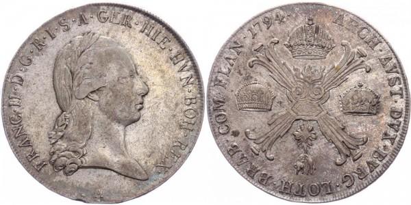 RDR/Österreich/Haus Habsburg Kronentaler 1794A Wien Franz II. / I. ( 1792 - 1835 )