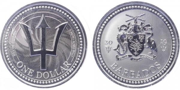 Barbados 1 Dollar 2019 - Dreizack