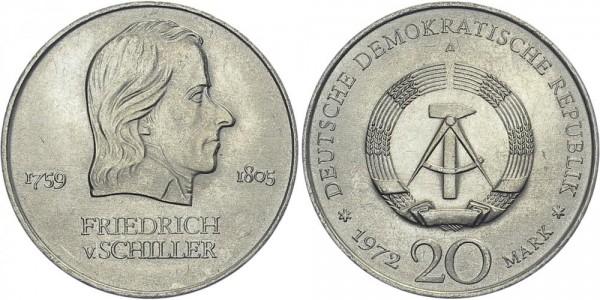 DDR 20 Mark 1972 A Schiller