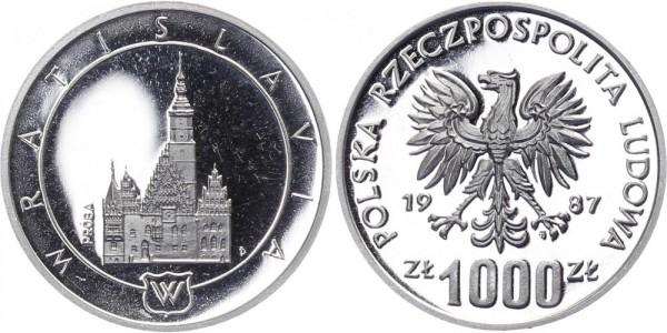 Polen 1000 Zlotych 1987 - Wratislavia (Probe)